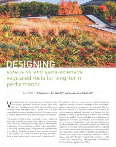 Designing for long term performance pg 1