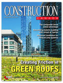 Construction Canada cover features image of green roof in urban core