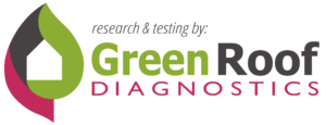 Text reads Research & testing by: Green Roof Diagnostics.